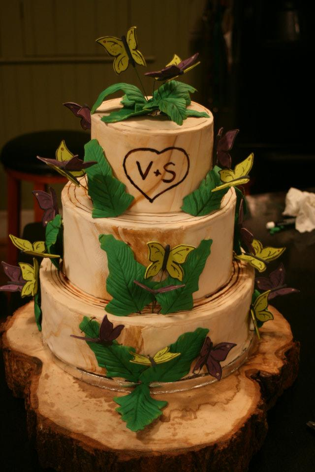 Butterfly Wedding Cakes Tree