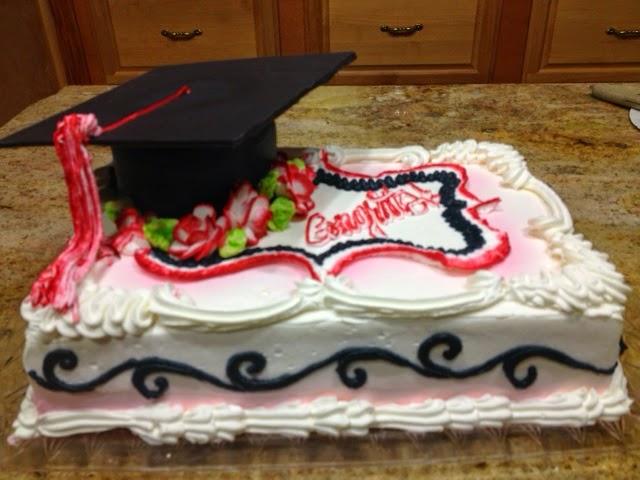 Cake with Graduation Cap