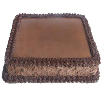 Chocolate Square Cake Design