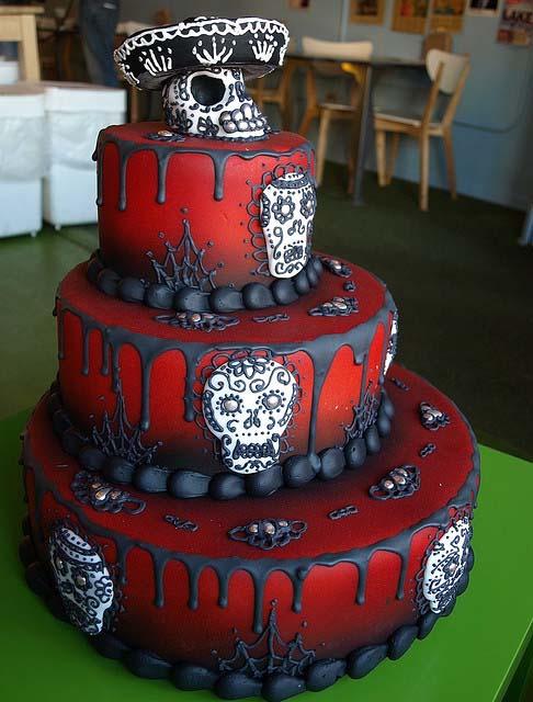 Day of the Dead Sugar Skull Cake