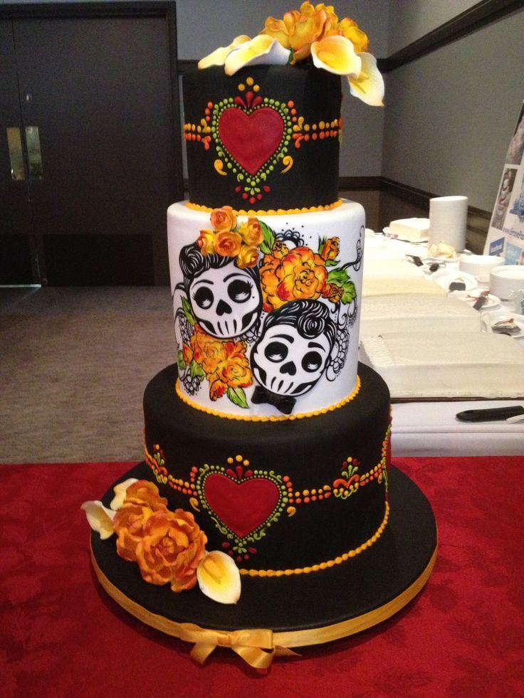 Day of the Dead Wedding Cake Idea