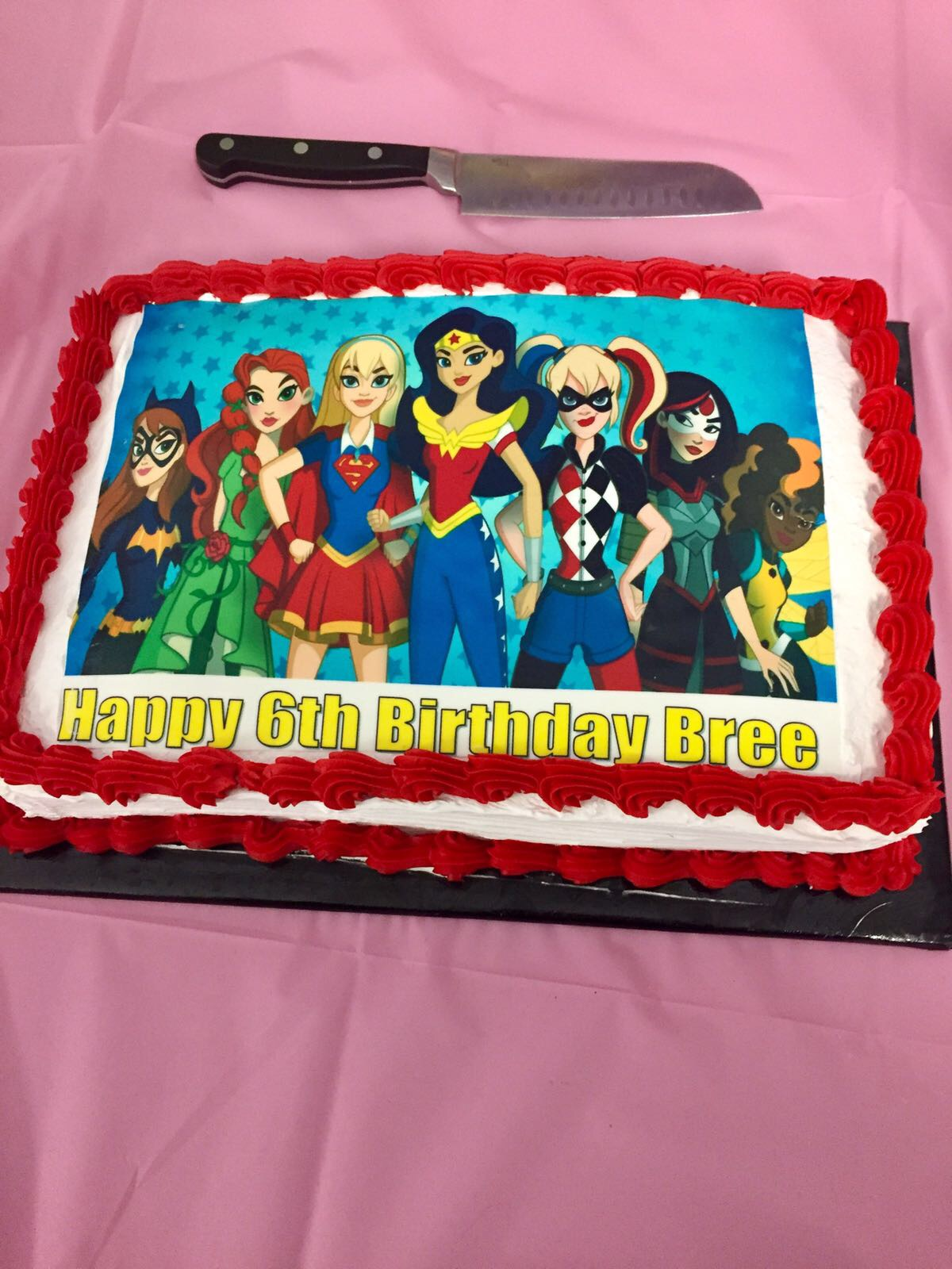 DC Girls Superhero Cake