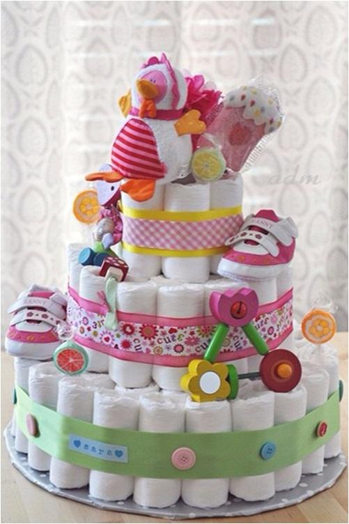 Diaper Cake Baby Shower Gift Idea