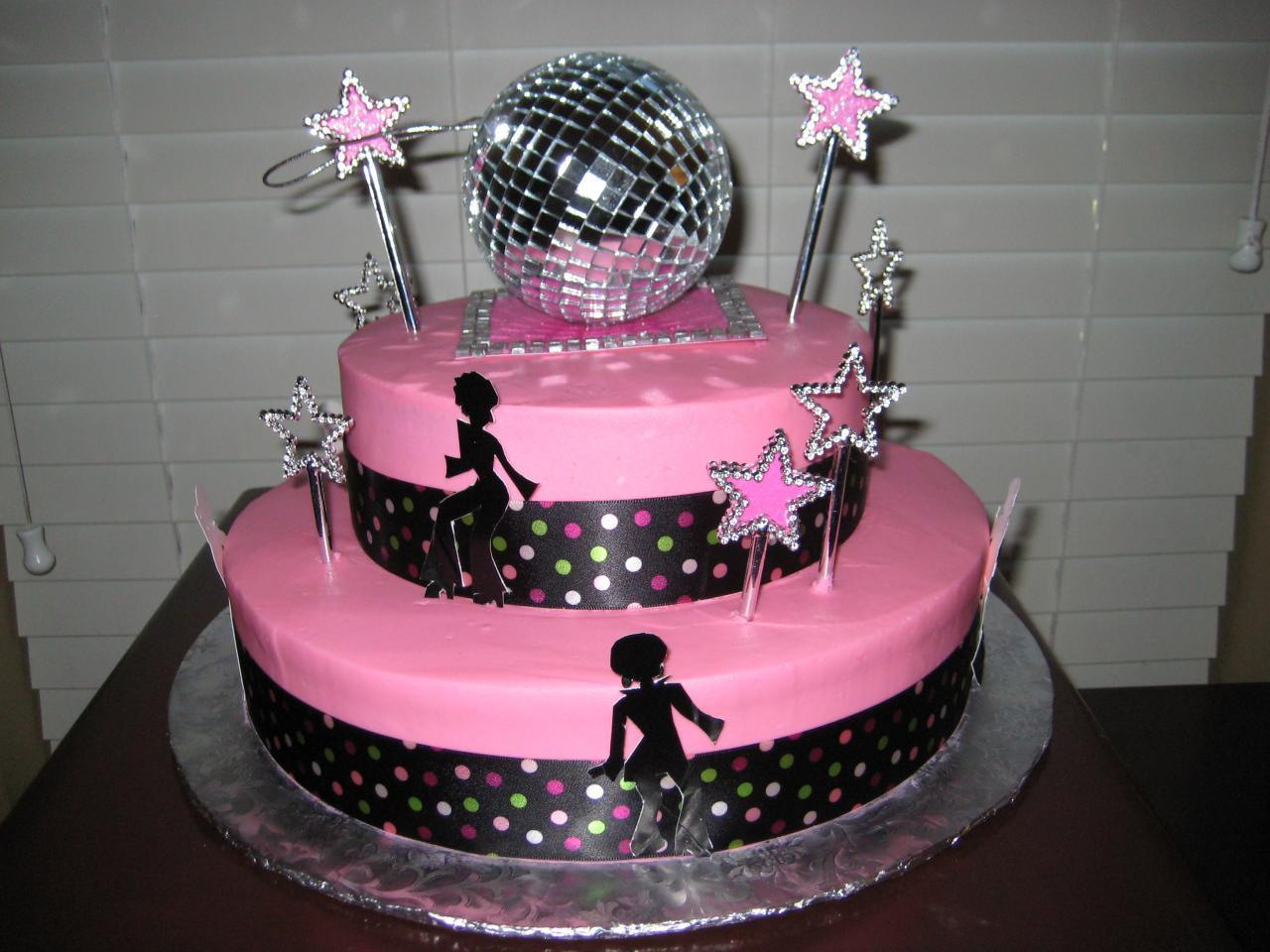 Disco Birthday Party Cake Ideas
