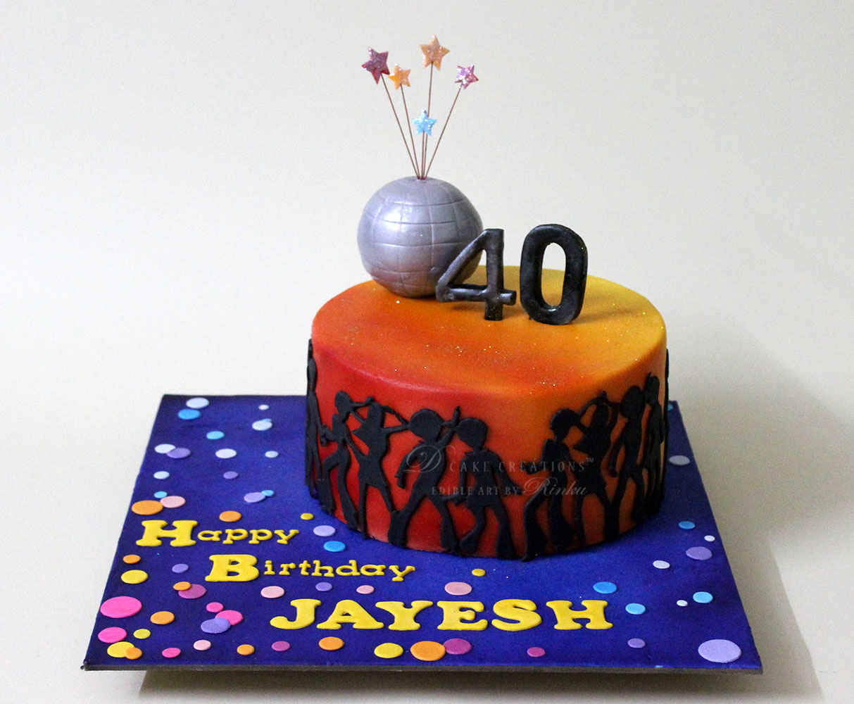 Disco Theme Birthday Cakes