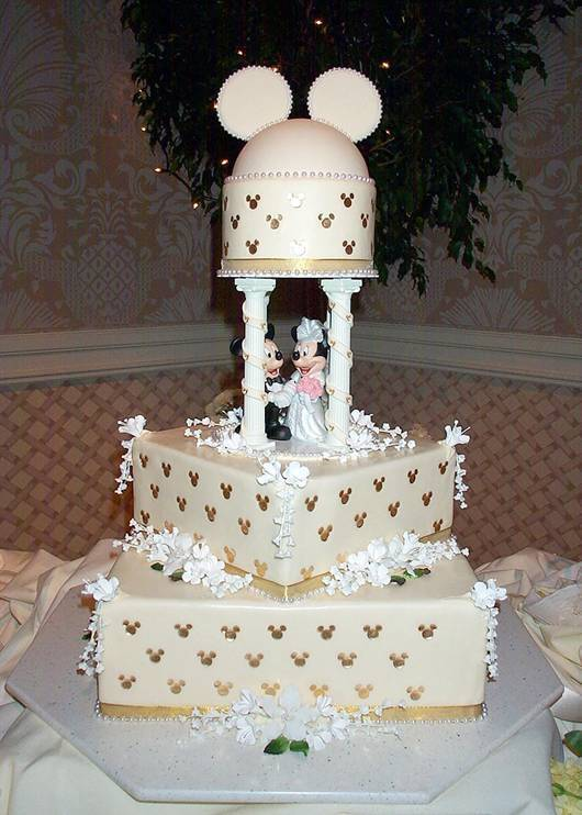 8 Photos of Mickey Disney Wedding Cakes