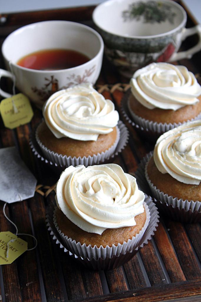 6 Photos of Earl Grey Cupcakes