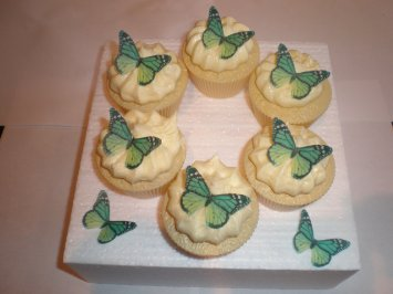 Emerald Green Edible Cupcake Decorations