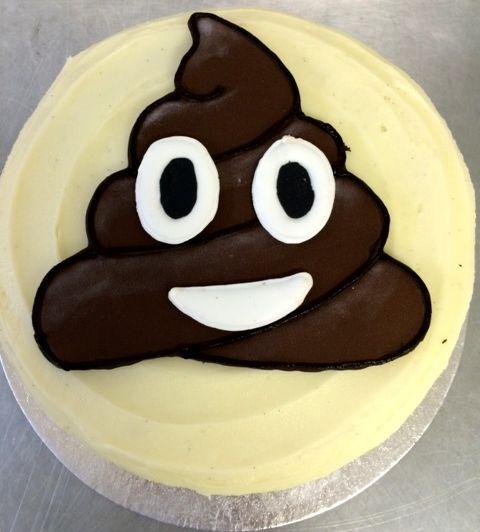 Emoji Poop Birthday Cake