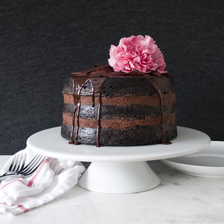 Extra Dark Chocolate Cake