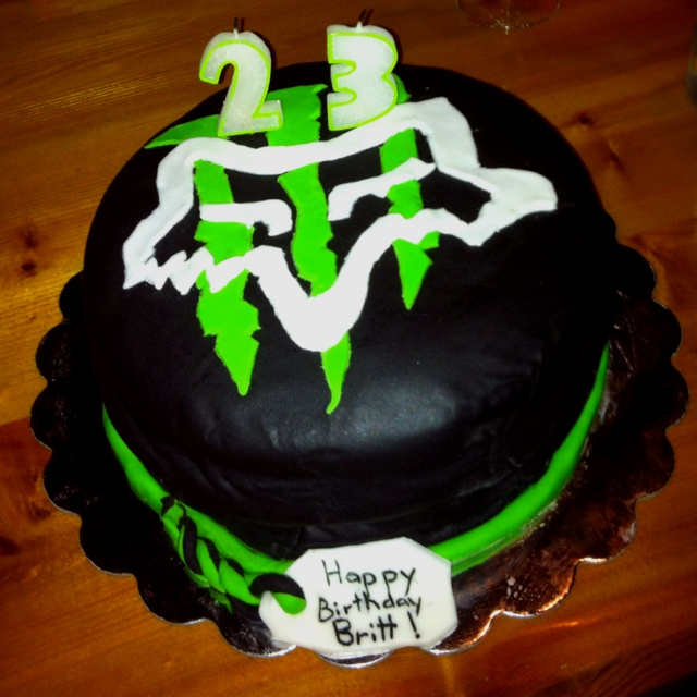 Fox Racing Monster Energy Cakes