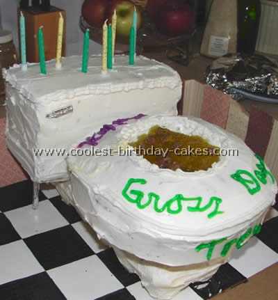 Funny Birthday Toilet Cake