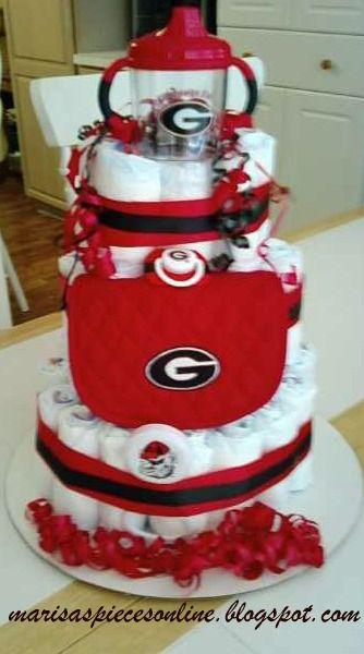 GA Bulldog Diaper Cake