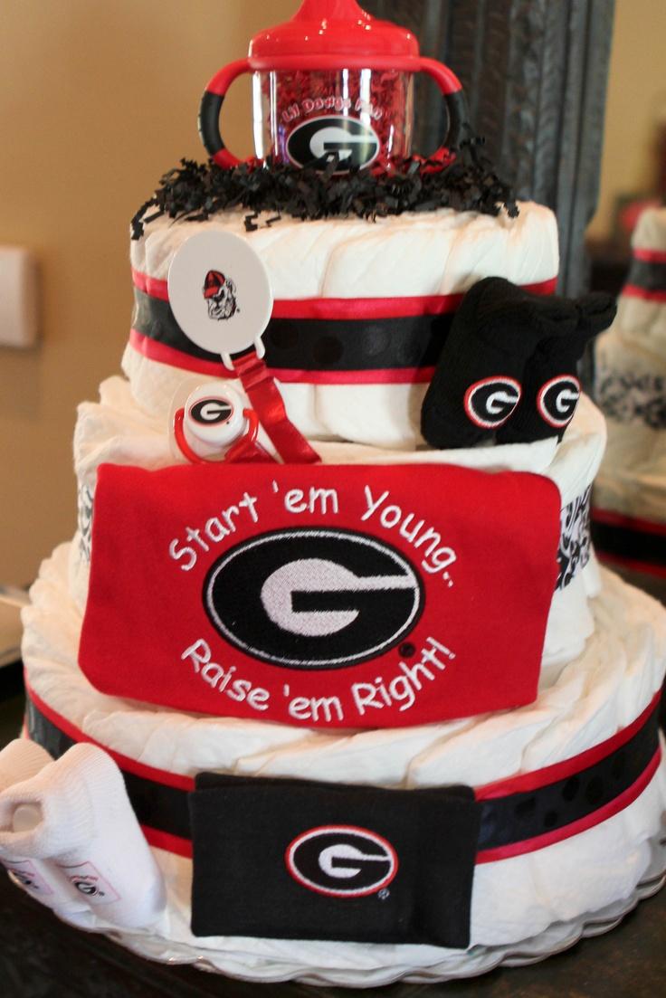 Georgia Bulldog Baby Shower Cake