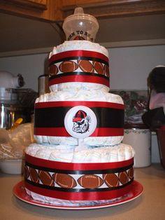 Georgia Bulldog Football Cake