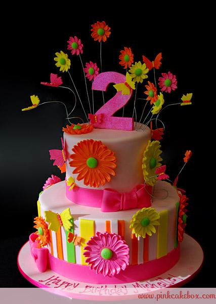 Gerber Daisy Birthday Cake
