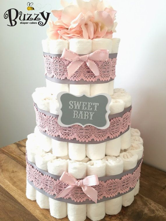 Girl Baby Shower Diaper Cake Ideas