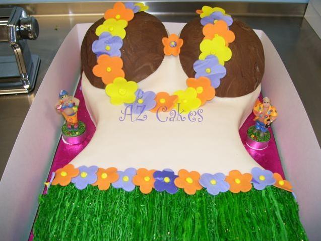 Girls Hawaiian Birthday Cake