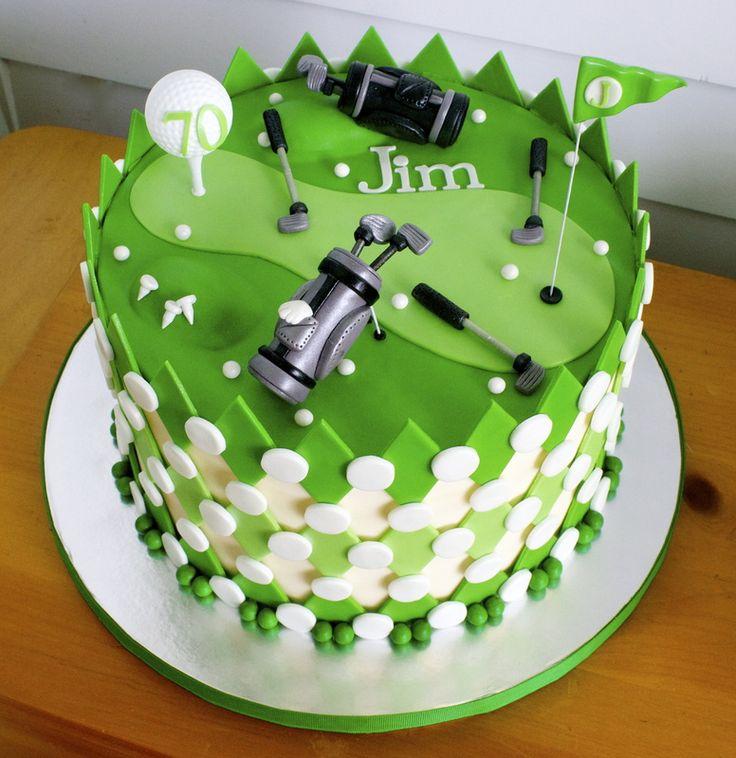 Golf Themed Birthday Cake Idea