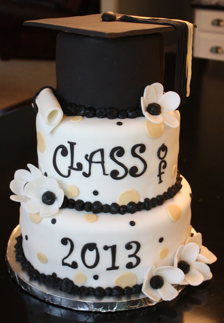 10 Photos of Frosted Graduation Cakes