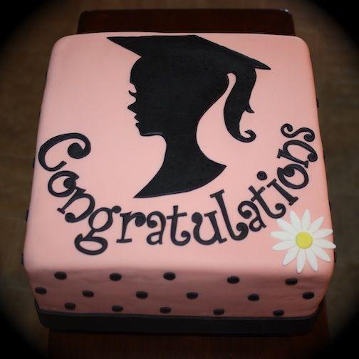 Graduation Silhouette Cake