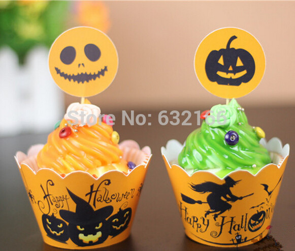 Halloween Birthday Party Cupcakes