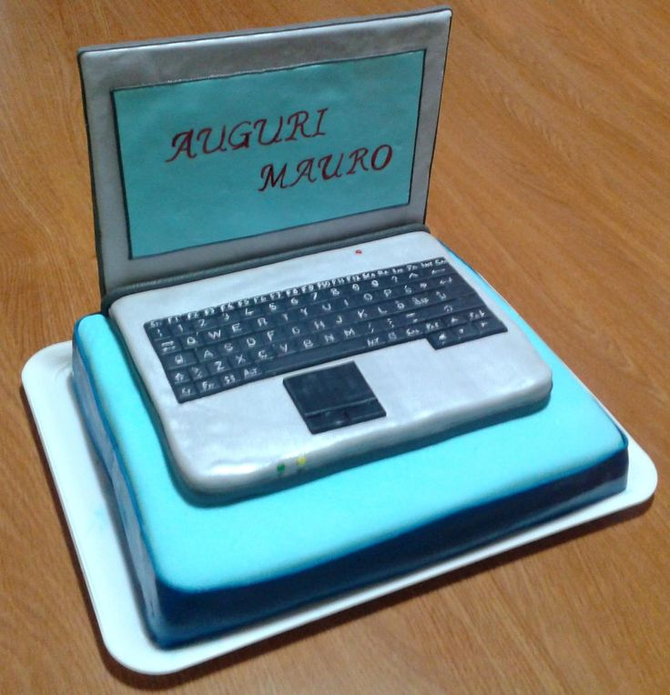 Happy Birthday Computer Cake