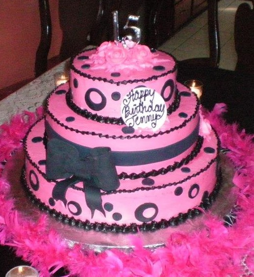 Happy Sweet 16 Cake