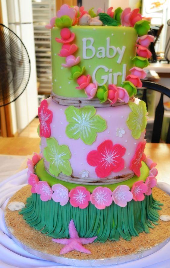 Hawaiian Baby Shower Cake