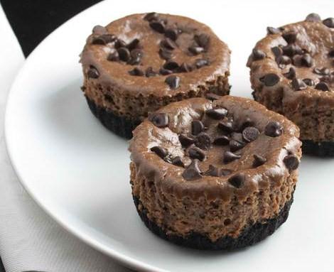Hazelnut Mini-Chocolate Cheesecakes