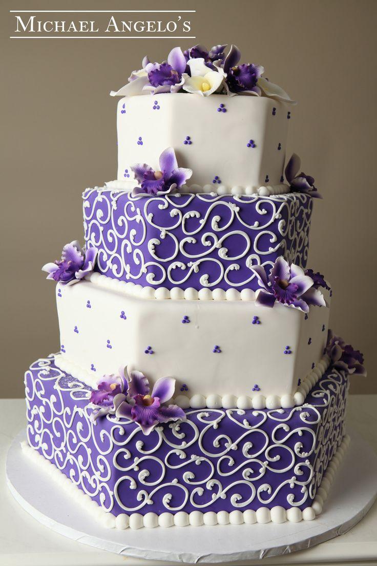 Hexagon Wedding Cake Designs