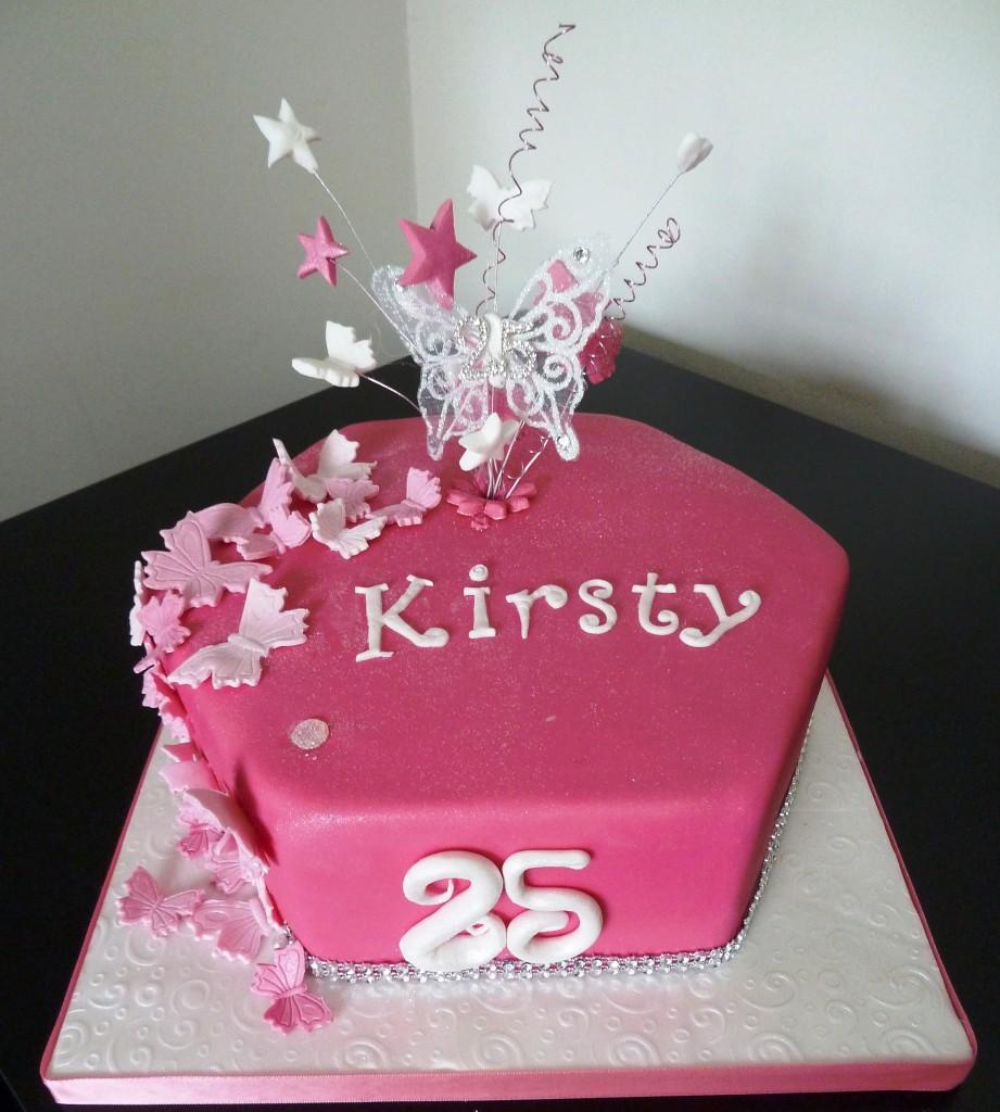 Hexagon Wedding Cake Pink