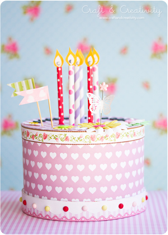 How to Make a Paper Birthday Cake