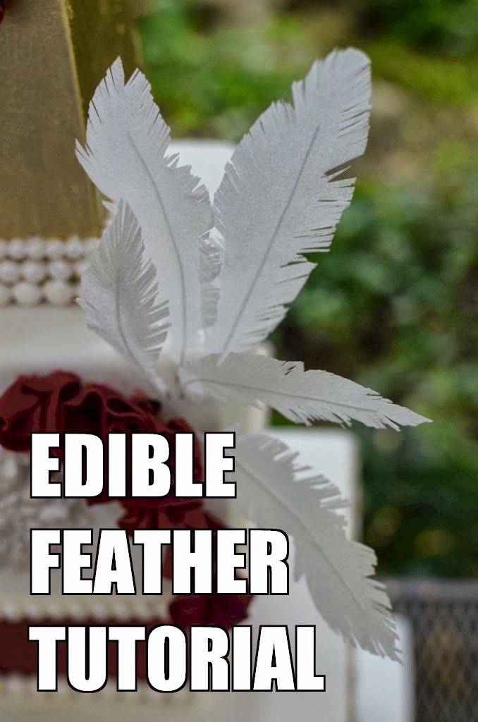 How to Make Edible Feathers for Cake