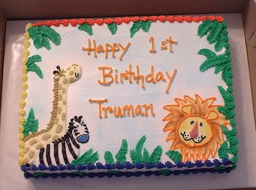 Jungle Animal Birthday Sheet Cakes