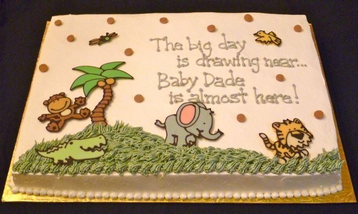 Jungle Baby Shower Sheet Cakes