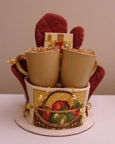 Kitchen Towel Cake Gift Basket