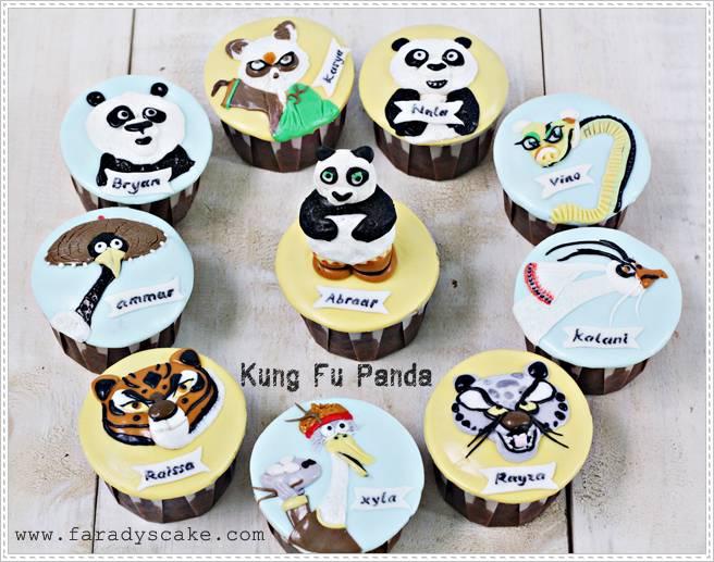 Kung Fu Panda Cupcakes