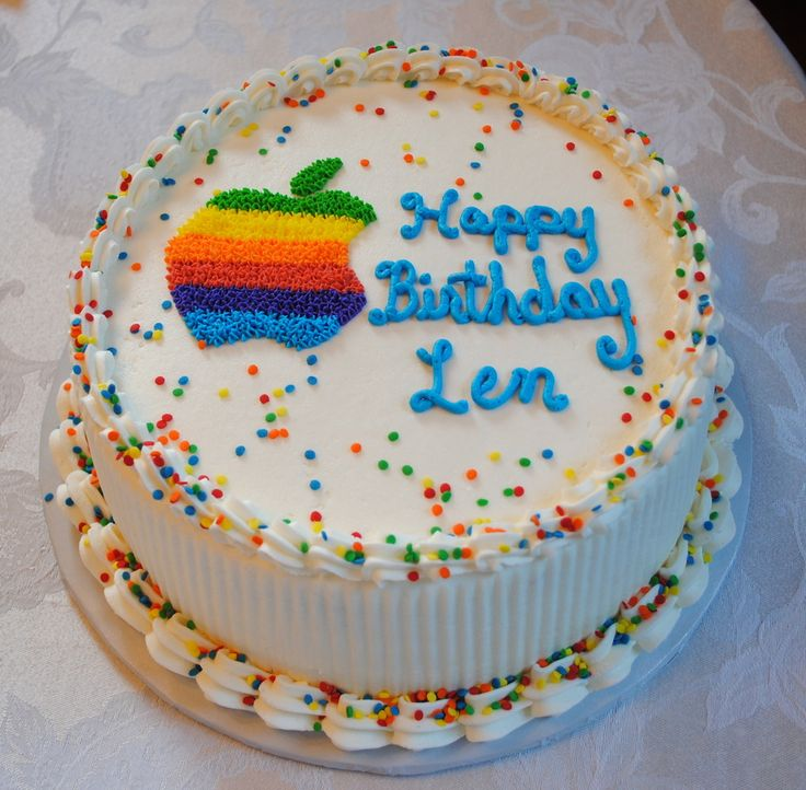 Mac Computer Birthday Cake