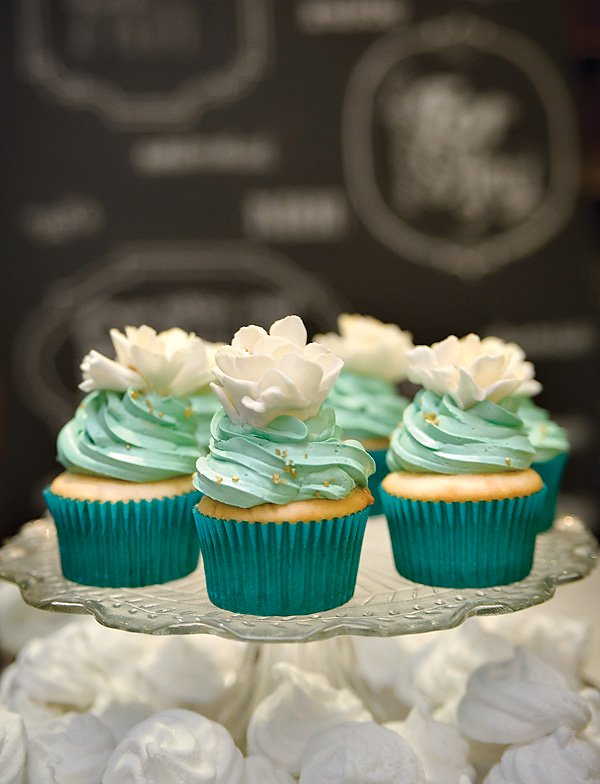 Mint Green Frosted Cupcakes