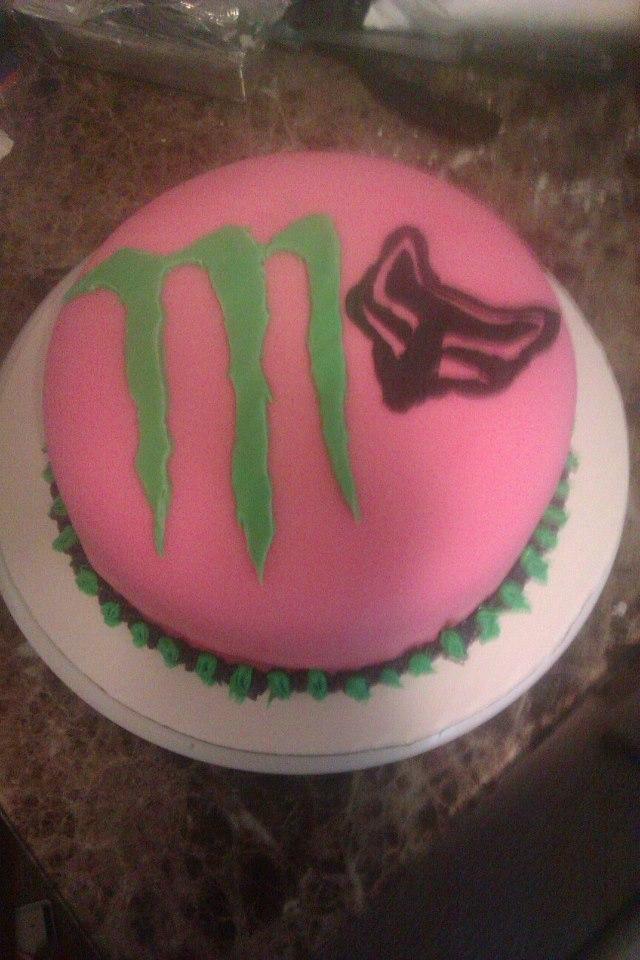 Monster Fox Racing Cake