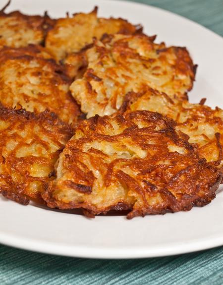 Oven Fried Potato Pancakes