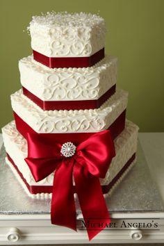 Pearl Hexagon Wedding Cakes