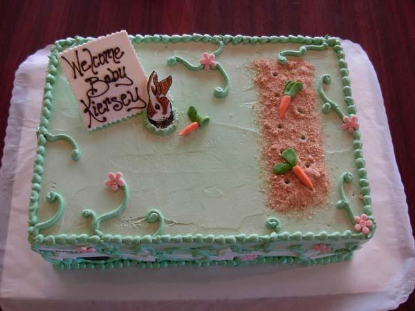 Peter Rabbit Baby Shower Sheet Cake