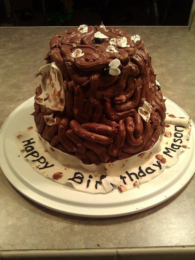 Poop Birthday Cake