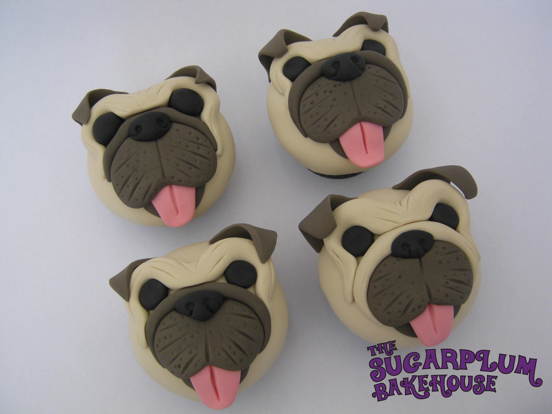 Pug Face Cupcake