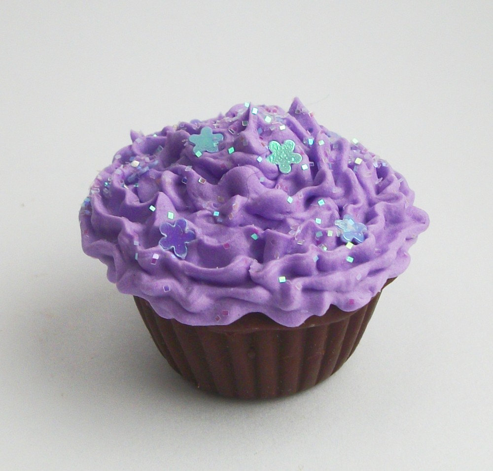 Purple Cupcakes with Frosting