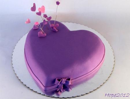 Purple Hearts Cake