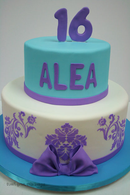 Purple Sweet 16 Birthday Cakes