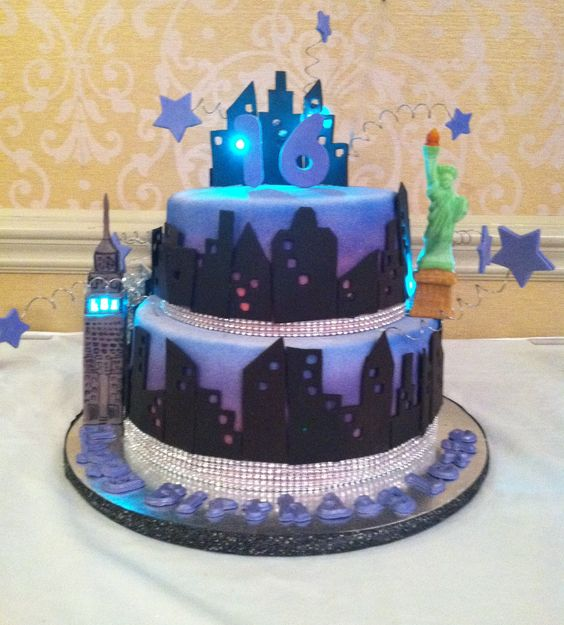 Purple Sweet 16 Cake